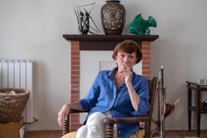 La médecin et ex-ministre Michèle Delaunay à Hossegor (Landes), le 28 juillet.