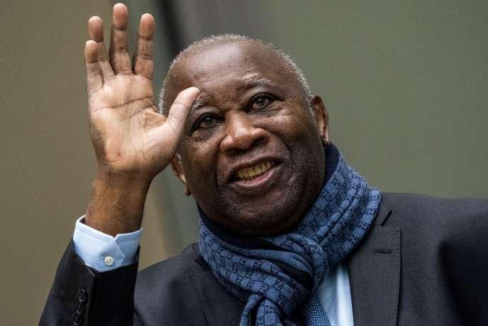 Laurent Gbagbo le 6 février 2020 à la Cour pénale internationale de La Haye.