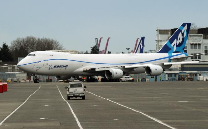 Un Boeing 747-8F après son atterrissage dans l'Etat de Washington, le 20 mars 2011.
