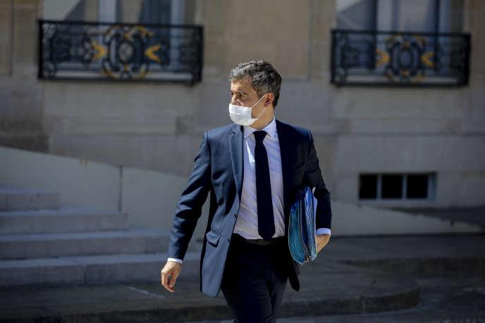 Gérald Darmanin à la sortie d'un cabinet ministériel àParis, mercredi 29 juillet.