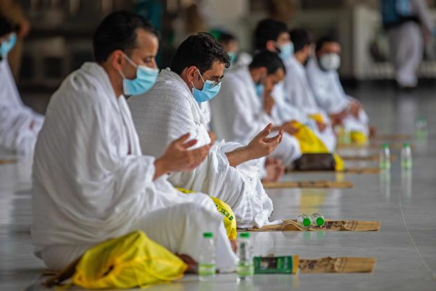 Des fidèles prient durant le hadj à La Mecque, le 29 juillet.