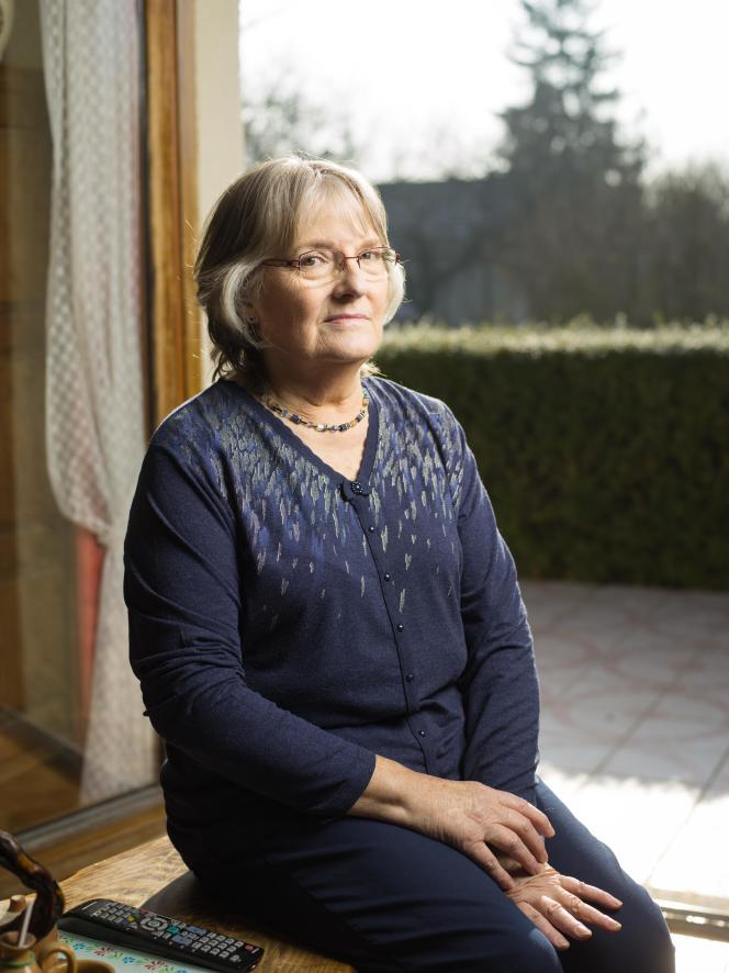 Jacqueline Sauvage, chez sa fille, à Chuelles (Loiret), le 19 janvier 2017.