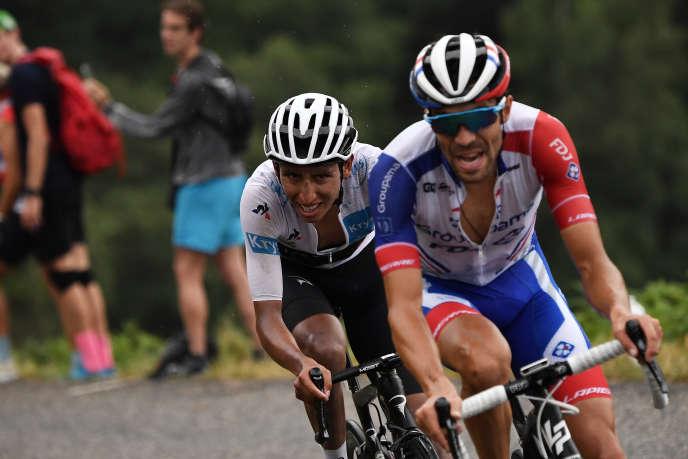Egan Bernal etThibaut Pinot (ici lors de la 15e étape du Tour de 2019) seront deux des têtes d'affiche de l'édition 2020 de la Route d'Occitanie.