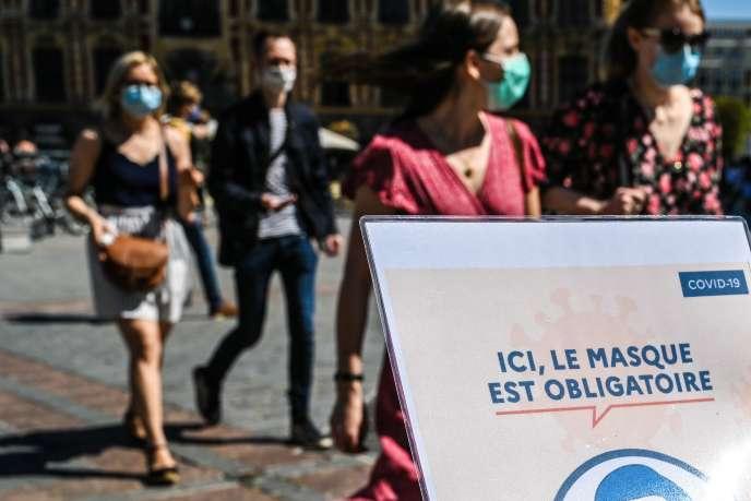 Dans les rues de Lille, jeudi 30 juillet.
