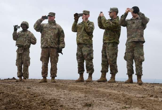 Des soldats américains à Grafenwoehr, en Bavière (Allemagne), le 4 mars 2020.