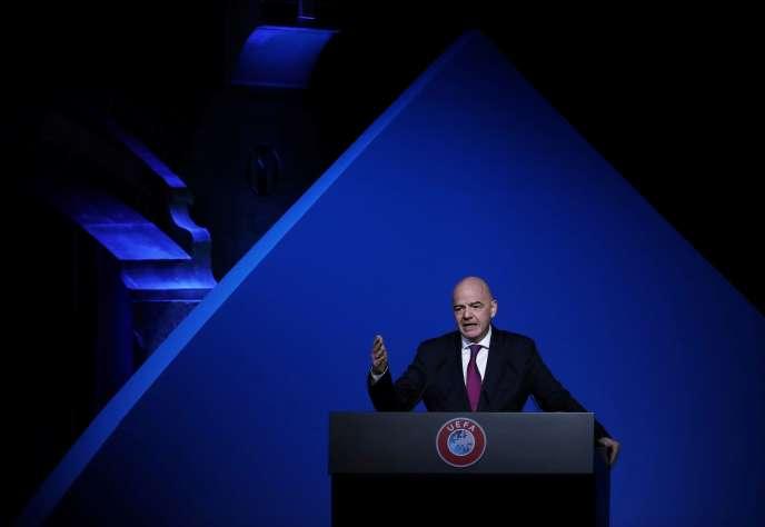 Le président de la FIFA, Gianni Infantino, le 3 mars 2020.