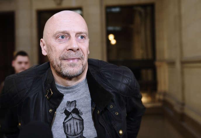 L'écrivain d'extrême droite Alain Soral, au palais de justice de Paris,le 12 mars 2015.