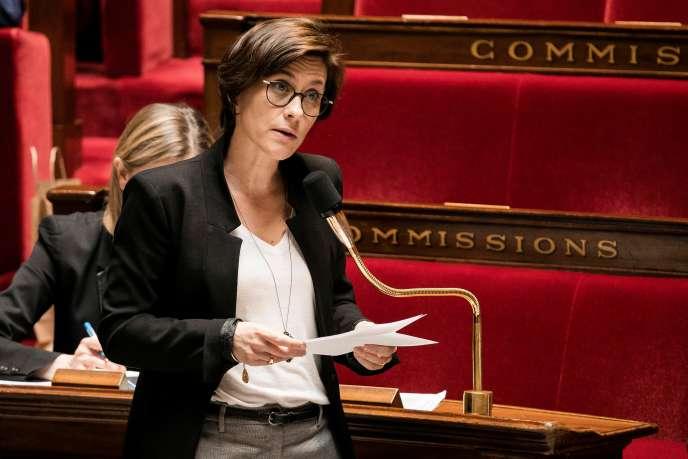 La secrétaire d'Etat à l'exclusion sociale, Christelle Dubos, à l'Assemblée nationale, à Paris, le 5 mai.