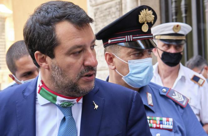 Matteo Salvini à Rome, le 30 juillet 2020.
