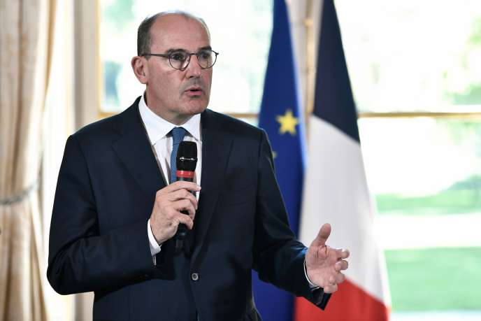 Le premier ministre, Jean Castex, le 30 juillet 2020 à Matignon, à l'occasion de la signature de l'accord avec les régions.