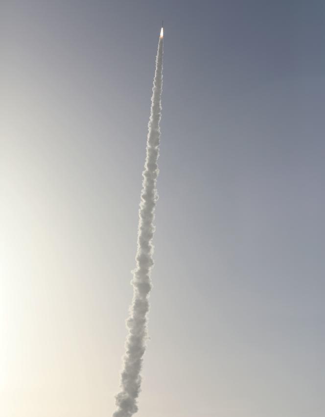 Lors du lancement de l'astromobile Perseverance, le 30 juillet 2020.