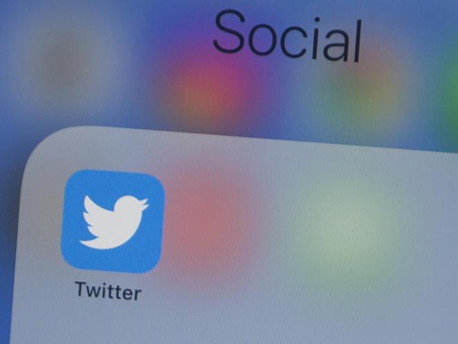Le logo de l'application Twitter.