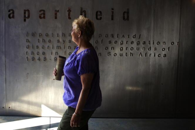 Dans le Musée de l'apartheid, à Johannesburg, en mai 2010.