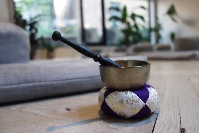 Un studio de méditation de pleine conscience, à New York, en août 2017.
