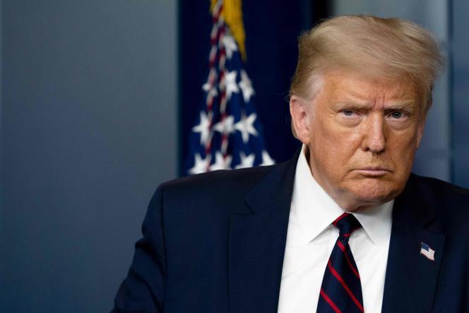 Donald Trump lors d'une la conférence de presse, à la Maison Blanche, à Washington, le 30 juillet.