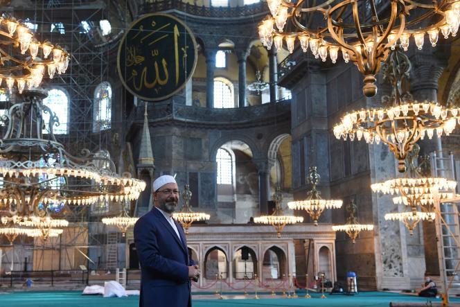 Le chef religieux turc, Ali Erbas, à Istanbul, en Turquie, le 22 juillet.