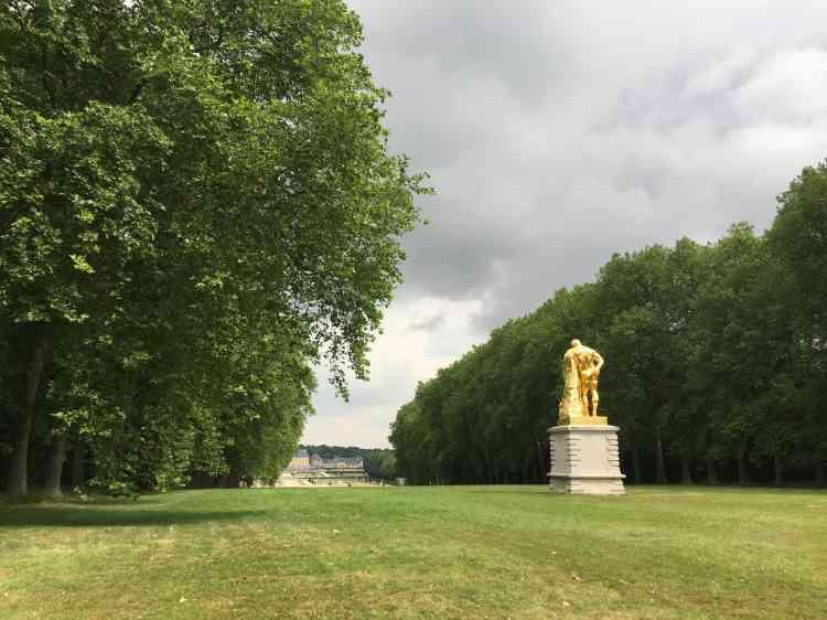 Restaurée en 2017 grâce au mécénat, cette statue monumentale a été érigée au XIXesiècle seulement, inspirée du modèle qui n'a pu être installé du temps de Fouquet en raison de son emprisonnement et de la saisie de ses biens.