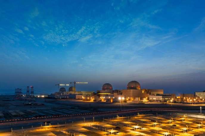 La centrale nucléaire deBarakah, aux Emirats arabes unis, le 1er août.