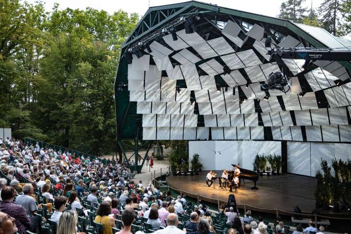 Le pianiste Nelson Goerner et leQuatuor Modigliani en concert, samedi 1er août 2020, à La Roque-d'Anthéron.
