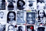 Un mur en hommage à toutes les vies d'Afro-Américains perdues dans des violences, à Portland (Oregon), le 1er août.