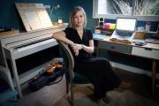 La compositrice française Camille Pépin dans son studio parisien, le 11février2019.