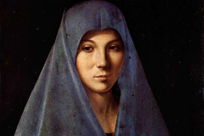 Vierge de l'Annonciation, par Antonello de Messine, Palerme, palais Abatellis.