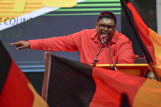Irfaan Ali, à Lusignan, au Guyana, le 29 février 2020.