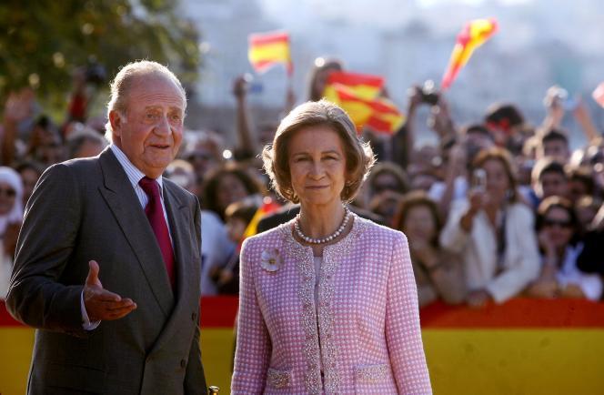Juan Carlos et son épouse, Sophie de Grèce, à Ceuta, le 5 novembre2007.