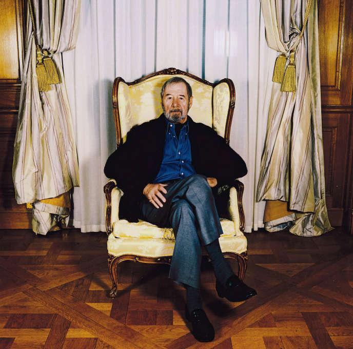 L'écrivain américain Ed McBain, en 2003, à Paris.
