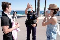 Sur la promenade des Anglais à Nice, lundi 3 août 2020.