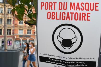 A Lille, le port du masque est obligatoire en extérieur dans la plupart des lieux publics les plus fréquentés.