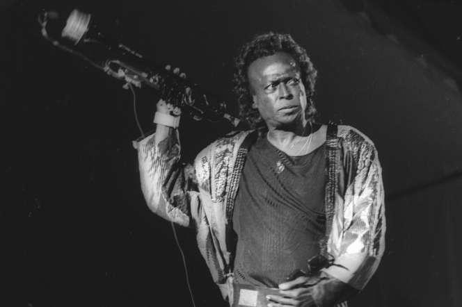 Miles Davis, en Juillet 1989 au festivalJazz à Vienne (Isère).