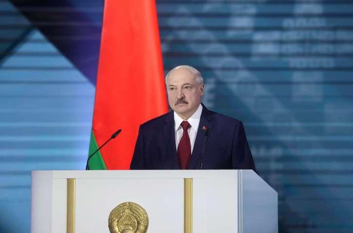Le président biélorusse Alexandre Loukachenko, le 4 août, à Minsk.