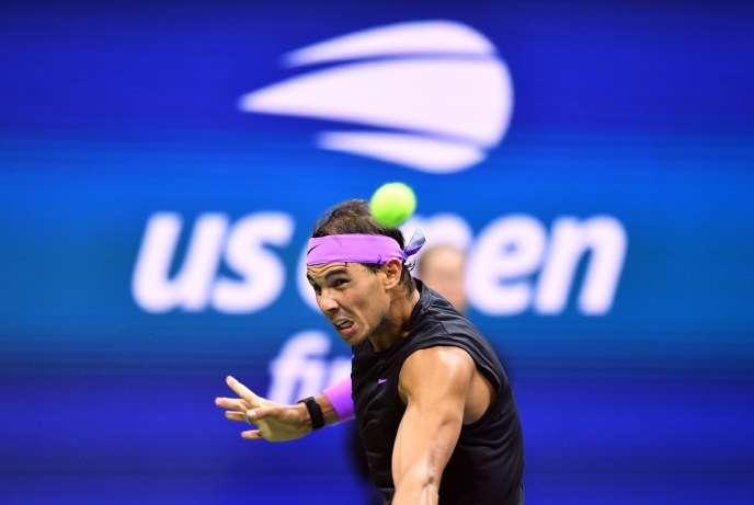 L'Espagnol Rafael Nadal lors de la finale de l'US Open qu'il a remportée, en septembre 2019 à New York.