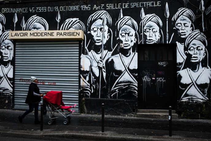 Le Lavoir moderne parisien, une salle de spectacle et un lieu historique au cœur de la Goutte d'or, Paris 18e, le 14 mars 2020.