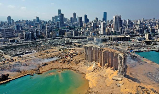 Beyrouth après l'explosion, le 5 août.