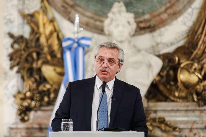 Le président de l'Argentine, Alberto Fernández, à Buenos Aires, le 29 juillet 2020.