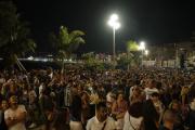 Concert du DJ The Avener, pour fêter la fin de l'urgence sanitaire, sur la baie des Anges,à Nice, le 11 juillet.