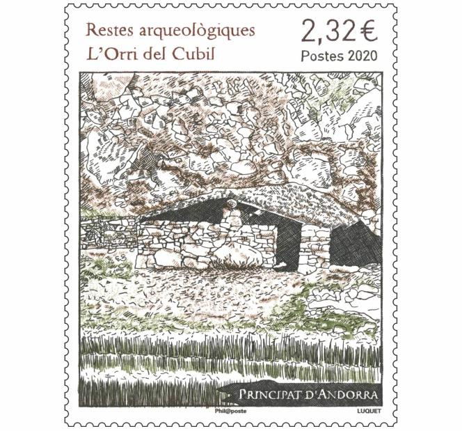 Timbre d'Andorre créé par Eve Luquet (2020).