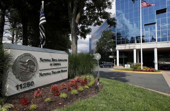 Le siège de la National Rifle Association (NRA), à Fairfax, en Virginie, le 6 août.