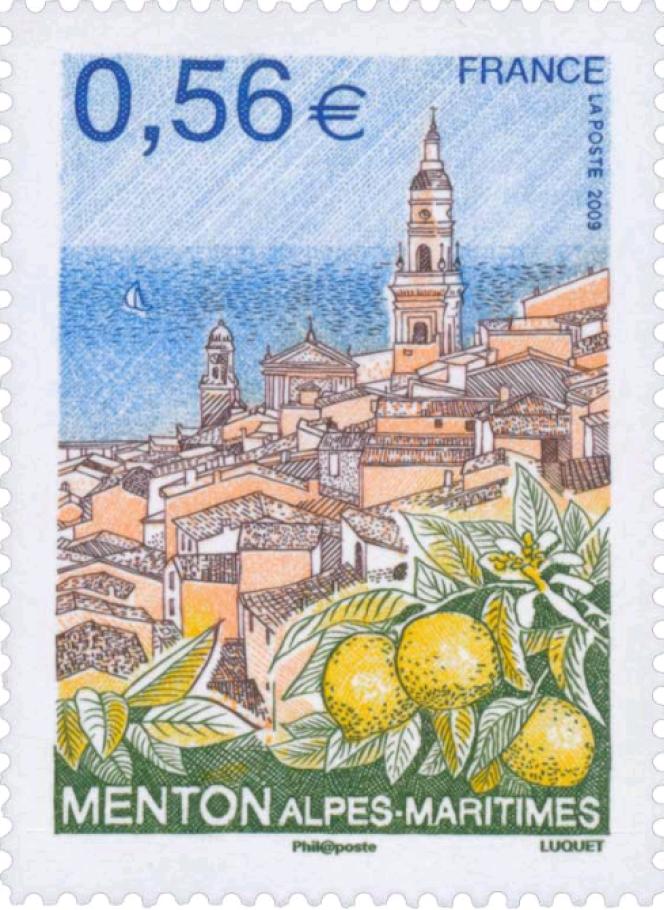 « Menton Alpes-Maritimes», par Eve Luquet (2009).