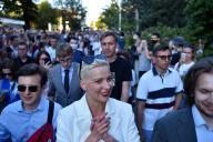 Maria Kolesnikova (à Minsk le 6 août)a été brièvement arrêtée samedi à la veille du scrutin avant d'être relâchée.