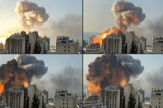 Images de l'explosion à Beyrouth, le 4 août 2020.