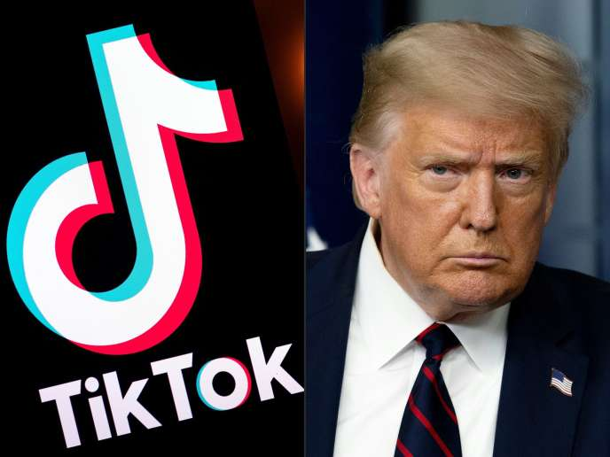 Donald Trump accuse l'application TikTok d'espionnage au profit de Pékin.