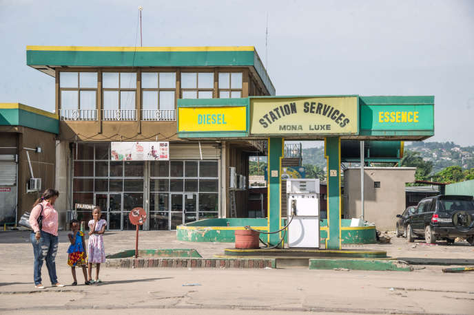 Une station-service à Kinshasa, en 2017.