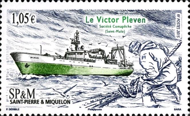 Le« Victor Pleven», pour Saint-Pierre-et-Miquelon (2015), par Pierre Bara.