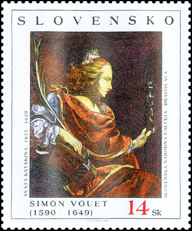 L'art de la gravure en Slovaquie, timbre d'après « Simon Vouet» (émission en 2003).