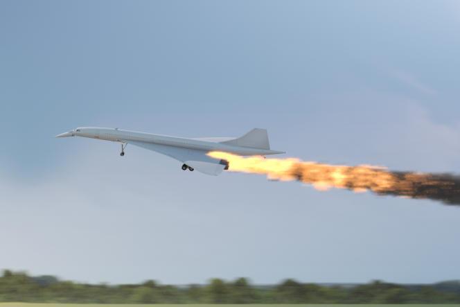 Le Concorde en flammes, le 25 juillet 2000, à Gonesse (Val-d'Oise).