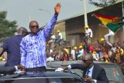 Le président guinéen, Alpha Condé, à Conakry, le 31octobre 2019.