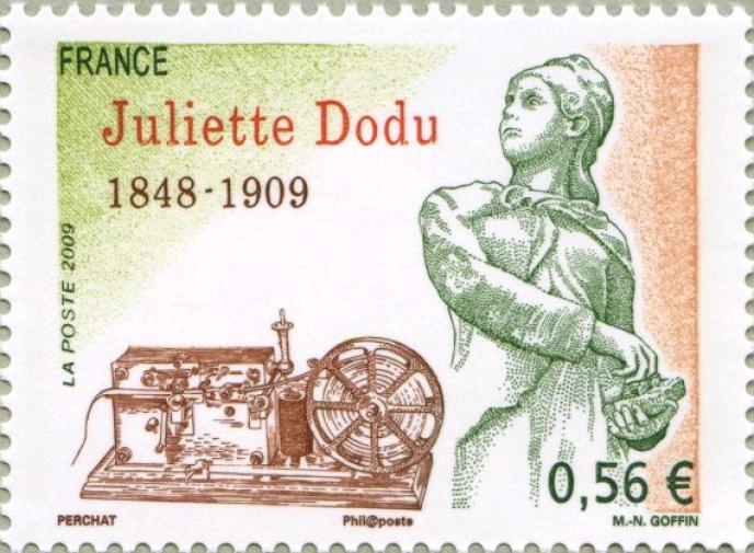 Le premier timbre de Claude Perchat, en 2009.
